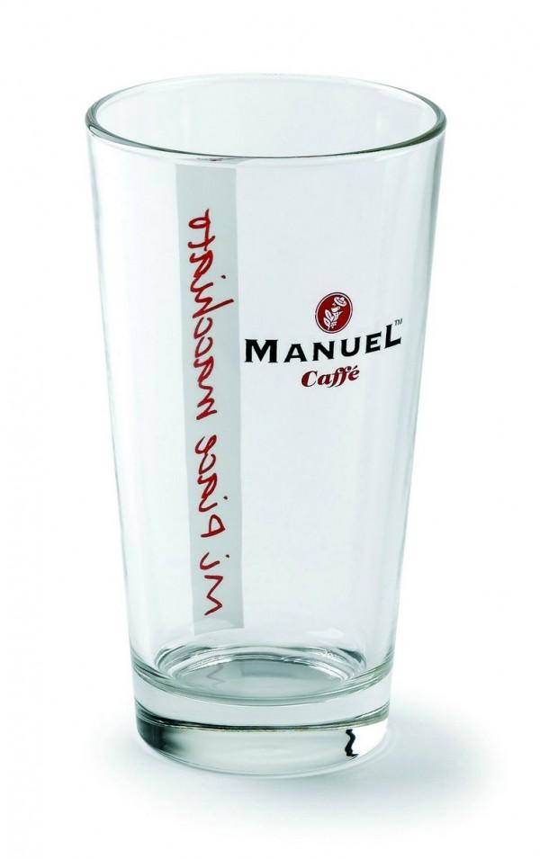 Bicchiere in vetro per il Latte Macchiato