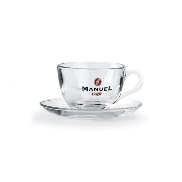 Cappuccino-Tasse aus Glas