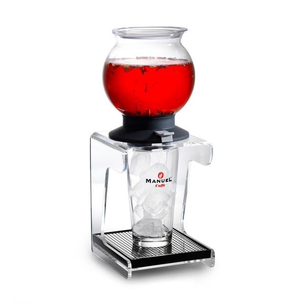 Glas mit Untertasse (Eistee)